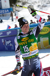 Second place for RAICHBenjamin of Austria at medal ceremony during the 2nd Run of Men's Giant Slalom - Pokal Vitranc 2014 of FIS Alpine Ski World Cup 2013/2014, on March 8, 2014 in Vitranc, Kranjska Gora, Slovenia. Photo by Matic Klansek Velej / Sportida