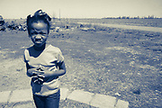 Young African-American girl on Palm Sunday in Crawfordsville, Arkansas  (1988)