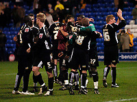 Photo: Jed Wee.<br />Tranmere Rovers v Swansea City. Coca Cola League 1.<br />26/11/2005.<br />Swansea celebrate at the final whistle as they salvage a draw.
