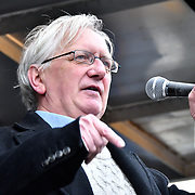 Craig Murry is a British Diplomat, speaks at the Protest against Julian Assange Extradition Free speech is not a Crimes, on 22th Feb 2020  in London, UK