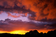 Stormy sunset in the hills above Lafayette, Contra Costa County, California