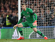 Southampton's Fraser Forster in action during the Premier League match at Stamford Bridge Stadium, London. Picture date: April 25th, 2017. Pic credit should read: David Klein/Sportimage