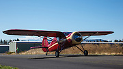 A 1939 Fairchild 24W-9 taxis into the 2013 Hood River Fly In at WAAAM.