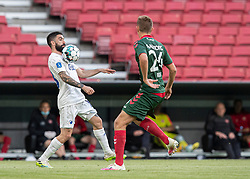 Michael Santos (FC København) tæmmer bolden under kampen i 3F Superligaen mellem FC København og AaB den 17. juni 2020 i Telia Parken, København (Foto: Claus Birch).