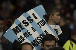 March 22, 2019 - Madrid, Madrid, Spain - A fan of Argentina during the Friendly football match between Argentina and Venezuela at Wanda Metropolitano Stadium in 22 March 2019, Madrid, Spain, preparatory for the Copa América Brazil 2019 to be played from June 14 to July 7. (Credit Image: © Patricio Realpe/NurPhoto via ZUMA Press)
