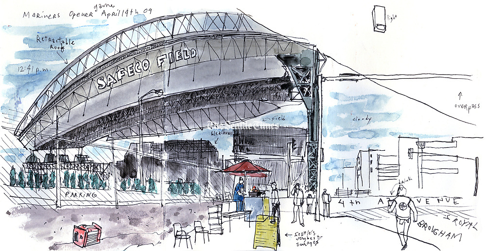Safeco Field, home of the Seattle Mariners in the SODO neighborhood of Seattle. <br /> <br /> Gabriel Campanario / The Seattle Times
