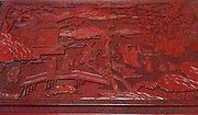 Ming Dynasty, Collection of letters bound in a red laquer case. Chinese circa 1368-1644