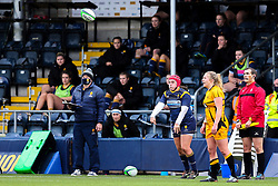 Carys Phillips of Worcester Warriors Women throws into the lineout - Mandatory by-line: Nick Browning/JMP - 24/10/2020 - RUGBY - Sixways Stadium - Worcester, England - Worcester Warriors Women v Wasps FC Ladies - Allianz Premier 15s