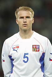 TEPLICE, CZECH REPUBLIC - Wednesday, April 30, 2003: Czech Republic's René Bolf pictured before a friendly match against Turkey at the Teplice Stadion Na Stinadlech. (Pic by David Rawcliffe/Propaganda)