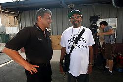 01 June 2010. New Orleans, Louisiana, USA.  <br /> Dean Blanchard of Dean Blanchard Seafood Inc shot on set in Chalmette for Spike Lee's latest movie,  'If God is Willing and da Creek Don't Rise.'<br /> Photo ©; Charlie Varleyvarleypix.com