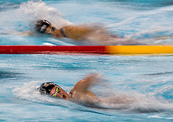 October 9, 2018 - Buenos Aires, ARGENTINA - 181009 2018 Youth Olympic Games, Day 3: Erika Fairweather NZL (front) and Arianna Valloni SMR in action during the Swimming Women's 800m Freestyle Heat at the Natatorium, Youth Olympic Park. The Youth Olympic Games, Buenos Aires, Argentina, Tuesday 9th October 2018. Photo: Simon Bruty for OIS/IOC. Handout image supplied by OIS/IOC  (Credit Image: © Simon Bruty For Ois/Bildbyran via ZUMA Press)