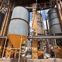 Coffee silos at SIGLO XX! coffee coop in El Salvador.