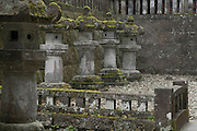 traditional toro lanterns at the entrance to a temple complex Toshogu shrine