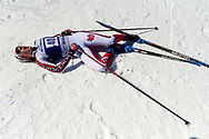 FRANCONIA, NH - MARCH 13: Julia Richter of the Denver Pioneers during the Women's Freestyle Nordic race at the Division I Men's and Women's Skiing Championships held at the Jackson Ski Touring Center on March 13, 2021 in Franconia, New Hampshire. (Photo by Brett Wilhelm/NCAA Photos via Getty Images)
