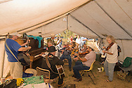 Musicians play at Montana Old Time Fiddlers Picnic, Livingston, Montana