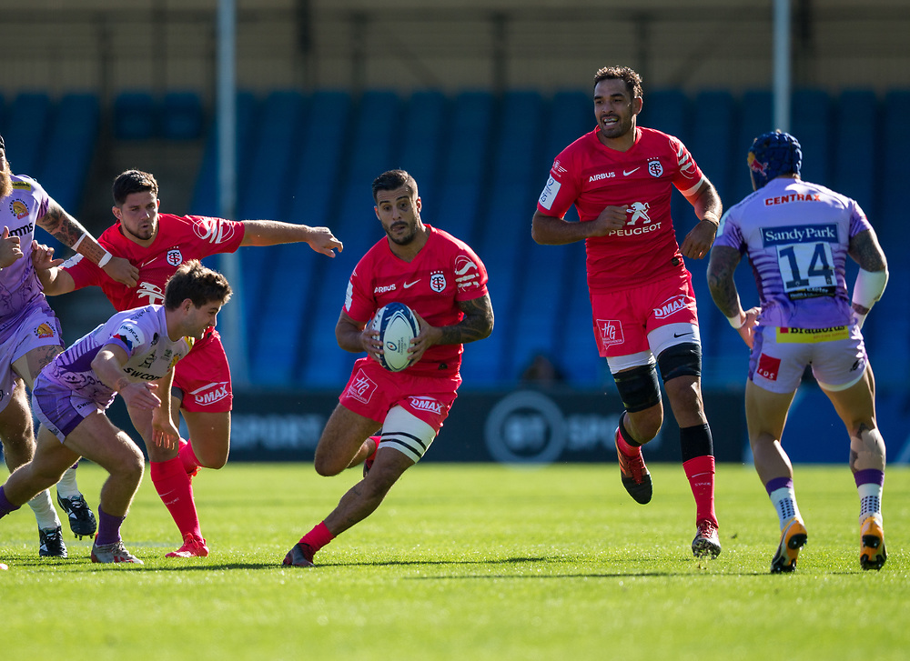 Toulouse's Sofiane Guitoune in action during todays match<br /> <br /> Photographer Bob Bradford/CameraSport<br /> <br /> European Rugby Heineken Champions Cup Semi-Final - Exeter Chiefs v Toulouse - Saturday 26th September 2020 - Sandy Park - Exeter<br /> <br /> World Copyright © 2019 CameraSport. All rights reserved. 43 Linden Ave. Countesthorpe. Leicester. England. LE8 5PG - Tel: +44 (0) 116 277 4147 - admin@camerasport.com - www.camerasport.com