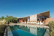 Pool and relaxation area, Tierra Atacama Hotel, Atacama Desert, Chile, South America