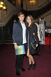 Douglas Booth and Sian Sidaway at the opening night of Totem by Cirque du Soleil held at The Royal Albert Hall, London on 5th January 2011.