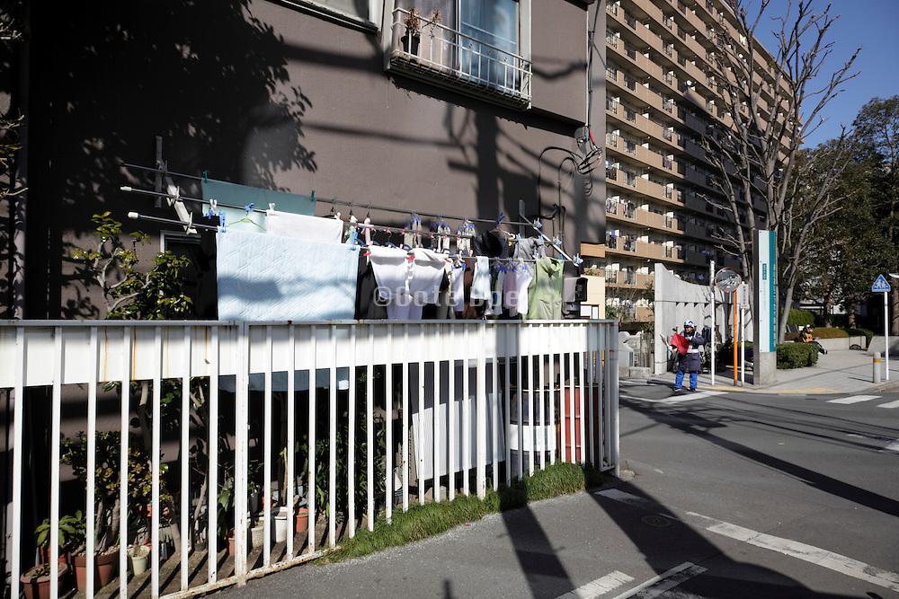Tokyo Japan casual neighborhood street view