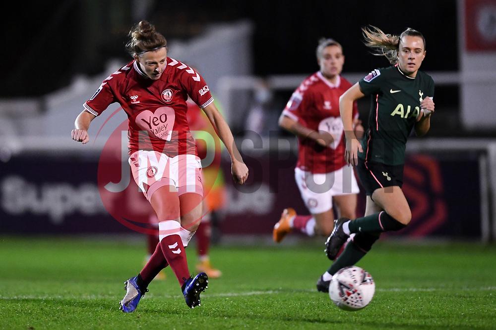 Yana Daniels of Bristol City Women - Mandatory by-line: Ryan Hiscott/JMP - 14/11/2020 - FOOTBALL - Twerton Park - Bath, England - Bristol City Women v Tottenham Hotspur Women - Barclays FA Women's Super League