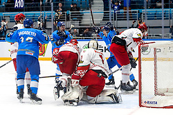 Talgat Zhailauov of Kazakhstan celebrates after scoring a goal during ice hockey match between Kazakhstan and Belarus at IIHF World Championship DIV. I Group A Kazakhstan 2019, on May 4, 2019 in Barys Arena, Nur-Sultan, Kazakhstan. Photo by Matic Klansek Velej / Sportida
