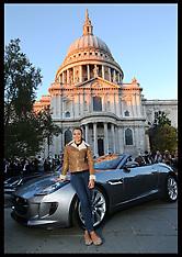 NOV 1 2012 Jessica Ennis with new F-Type Jaguar
