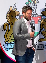 Bristol City head coach Lee Johnson speaks on stage at the Lansdown Club event - Mandatory by-line: Robbie Stephenson/JMP - 06/09/2016 - GENERAL SPORT - Ashton Gate - Bristol, England - Lansdown Club -