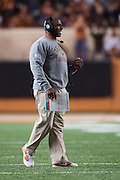 AUSTIN, TX - NOVEMBER 7:  Texas Longhorns head coach Charlie Strong looks on against the Kansas Jayhawks on November 7, 2015 at Darrell K Royal-Texas Memorial Stadium in Austin, Texas.  (Photo by Cooper Neill/Getty Images) *** Local Caption *** Charlie Strong