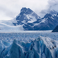Another view of Perito Moreno and the surrounding mountains.