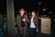CHIARA IANESELLI; MARCOS LUTYENS, Absolut Art Bureau Dinner at Base 13. Documenta ( 13 ), Kassel, Germany. 14 September 2012.