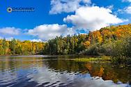 Little Beaver Lake in autumn at Pictured Rocks National Lakeshore, Michigan, USA