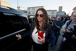 Katie Price leaves Bexley Magistrates' Court following her drink driving trial where she was banned from driving for three months, adding to the ban from earlier this year for driving while disqualified.