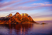 Lighthouse, Landegodeoy Island, near Bodo, Arctic, Northern Norway