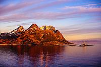 Lighthouse, Landegodeoy Island, near Bodo, Arctic, Northern Norway
