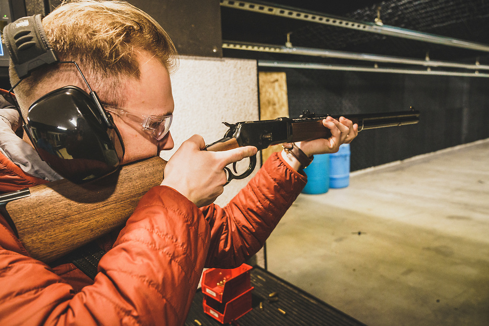 Brandon Eckrpth at the Cody Firearms Experience, Cody, Wyoming.