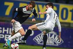 Falkirk's Rory Loy and Raith Rovers Grant Anderson.<br /> Falkirk 3 v 1 Raith Rovers, Scottish Championship game at The Falkirk Stadium.