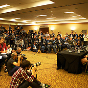 The New Zealand teams press conference in Auckland at the IRB Rugby World Cup tournament, Auckland, New Zealand, 18th October 2011. Photo Tim Clayton...