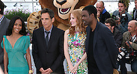 Jada Pinkett Smith, Ben Stiller, Jessica Chastain and Chris Rock at the Madagascar 3: Europe's Most Wanted photocall at the 65th Cannes Film Festival. Friday 18th May 2012 in Cannes Film Festival, France.