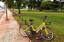 December 17, 2018 - SãO Paulo, Brazil - SÃO PAULO, SP - 17.12.2018: BIKE DA YELLOW QUEBRADA EM VIA - Bike of the startup Yellow is left in track, with the front wheel broken this Monday (17) in São Paulo, SP. (Credit Image: © Bruno Fernandes/Fotoarena via ZUMA Press)