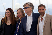 Producer Samanta Gandolfi Branca, Donata Wenders, director Wim Wenders and actor Ignazio Oliva at the Pope Francis – A Man Of His Word (Le Pape François – Un Homme De Parole) film photo call at the 71st Cannes Film Festival, Sunday 13th May 2018, Cannes, France. Photo credit: Doreen Kennedy
