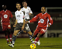 Photo: Olly Greenwood.<br />Leyton Orient v Bristol City. Coca Cola League 1. 01/11/2006. Leyton Orient's Paul Conner and Bristol's Alex Russell