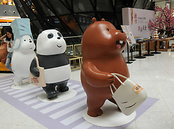 August 17, 2017 - Beijing, China - The 'We Bare Bears' Exhibition is held at Raffles City Shopping Centre in Beijing, featuring adorable bear sculptures. (Credit Image: © SIPA Asia via ZUMA Wire)