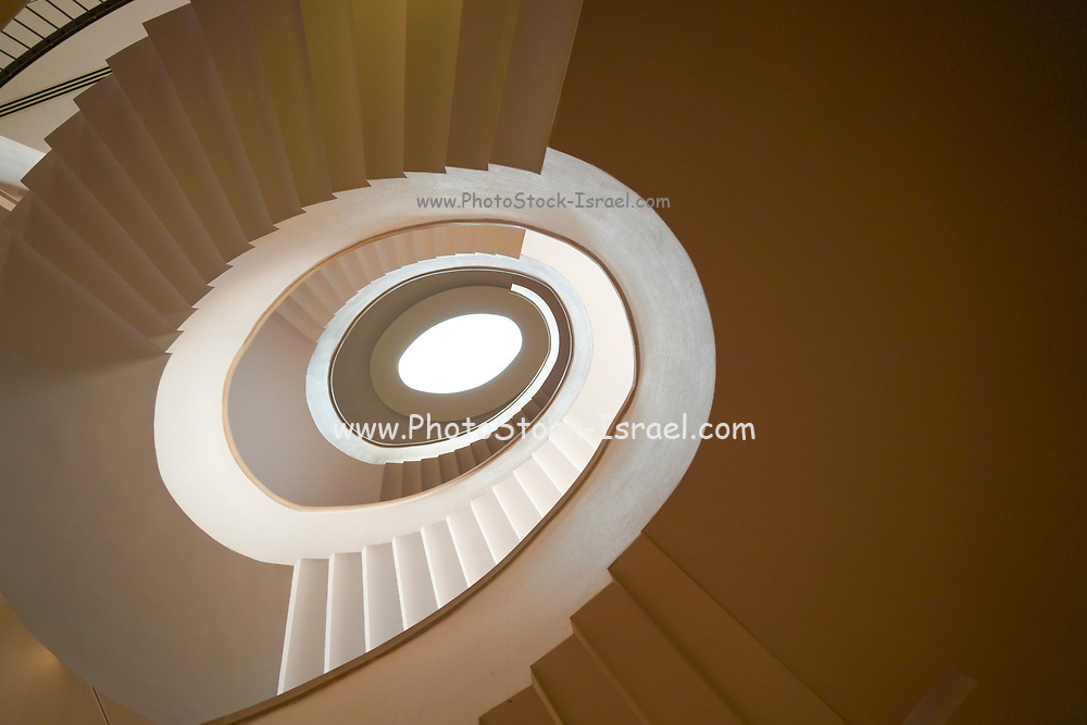 Spiral staircase close up abstract