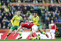 Callum O'Dowda of Bristol City battles for possession - Mandatory by-line: Arron Gent/JMP - 23/02/2019 - FOOTBALL - Carrow Road - Norwich, England - Norwich City v Bristol City - Sky Bet Championship