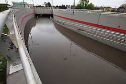 September 29, 2018 - Buenos Aires, Buenos Aires, Argentina - The heavy rains that fell this morning in the city of Buenos Aires caused flooding in several areas. The tunnel next to the El Palomar airport access was completely flooded causing traffic jam in the area. (Credit Image: © Claudio Santisteban/ZUMA Wire)