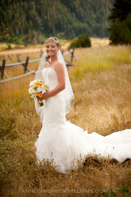 A Tahoe bride poses for a portrait before her wedding at Plumb Jack, Squaw Valley, Tahoe.