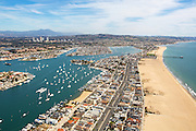 Aerial Stock Photo Of Newport Beach And Balboa Island