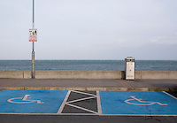 Disabled parking spaces at Bray seafront in Wicklow Ireland