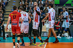 18-05-2019 GER: CEV CL Super Finals Zenit Kazan - Cucine Lube Civitanova, Berlin<br /> Civitanova win the Champions League by beating Zenit in four sets / Fabio Balaso #17 of Cucine Lube Civitanova, Bruno Mossa de Rezende #14 of Cucine Lube Civitanova, Osmany Juantorena Portuondo #5 of Cucine Lube Civitanova, Dragan Stankovic #7 of Cucine Lube Civitanova