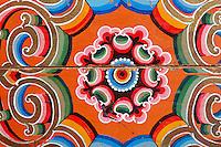 Mongolie. Province de Tov. Interieur de yourte. Meuble traditionel. // Mongolia. Tov province. Inside yurt. Traditional furniture.